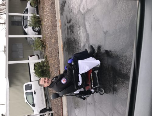 Going Above And Beyond: Taking An Injured Man's Wheelchair Home